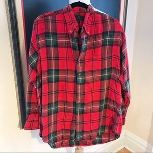 A&F:Vintage Red Green & Yellow Flannel Shirt SZ L